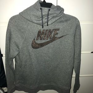 Nike long neck hooded sweatshirt
